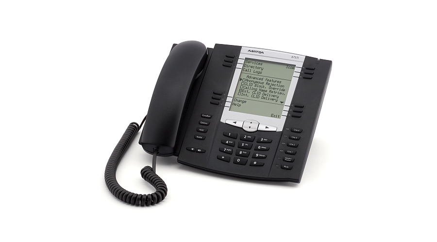 Mitel 6757 IP Phone (w/AC Adapter) - OPEN BOX