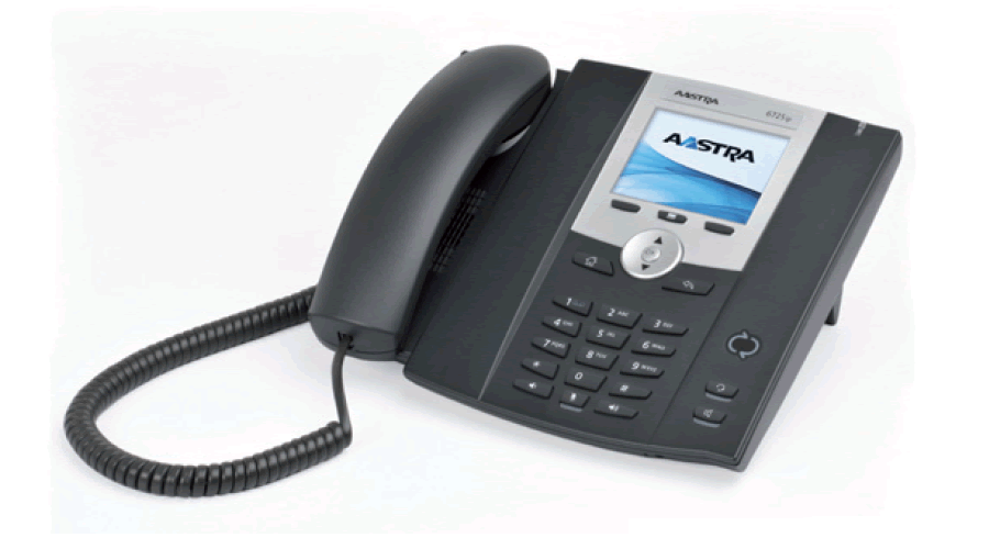 Mitel 6725 IP Phone Optimized for Microsoft Skype for Business - Includes Power Supply