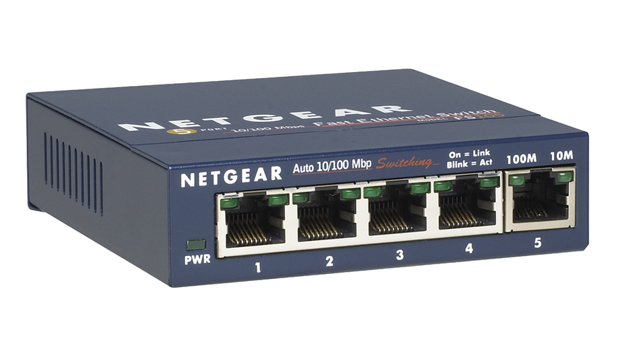 NetGear PROSAFE 5-PORT 10/100 DESKTOP SWITCH - FS105