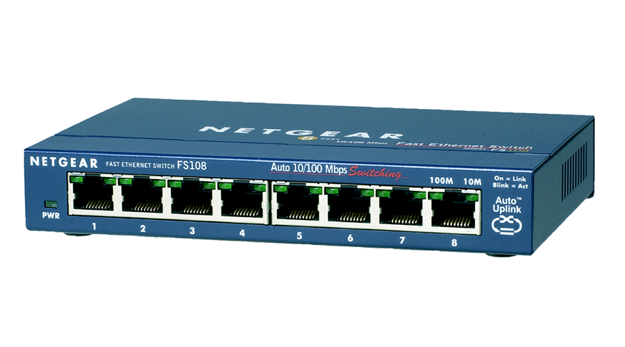 NetGear PROSAFE 8-PORT 10/100 DESKTOP SWITCH - FS108