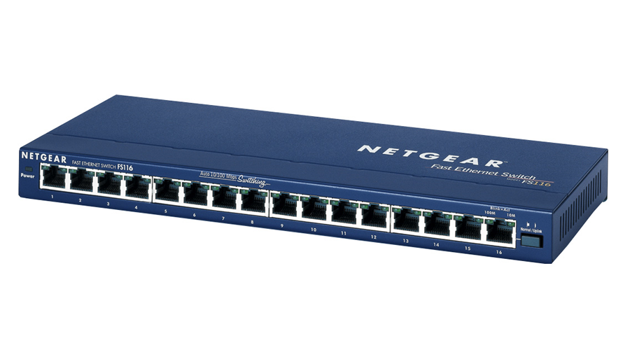 NetGear PROSAFE 16-PORT 10/100 DESKTOP SWITCH - FS116