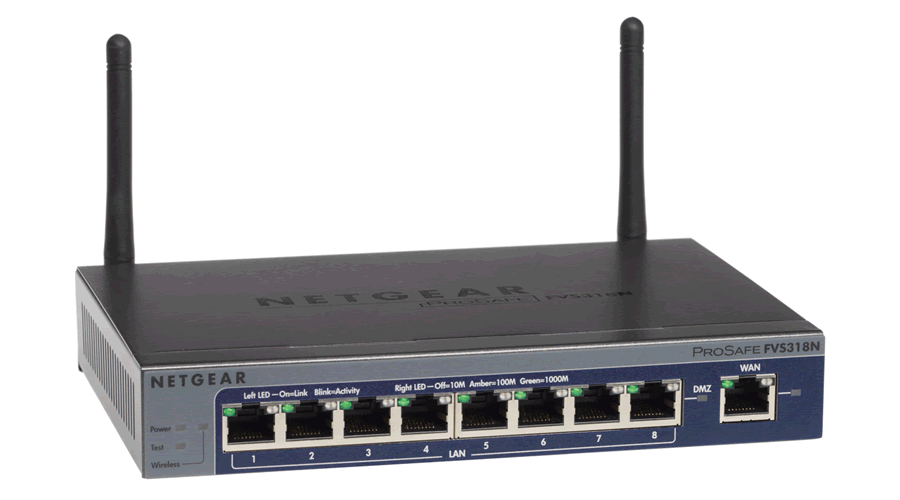 NetGear ProSafe Wireless-N 8-port Gigabit VPN Firewall - FVS318N