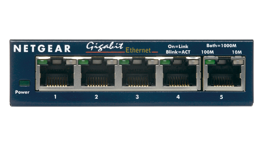 NetGear PROSAFE PLUS SWITCH, 5-PORT GIGABIT ETHERNET - GS105