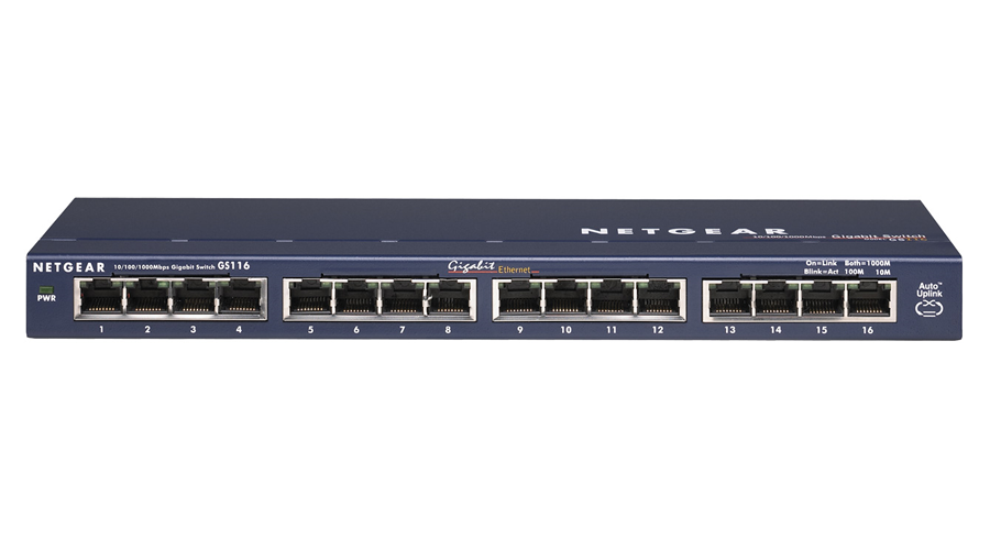 NetGear PROSAFE 16-PORT GIGABIT DESKTOP SWITCH - GS116