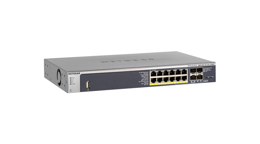 NetGear M4100-d12G-POE+ ProSafe 12 Port Layer 2+ Ethernet Switch