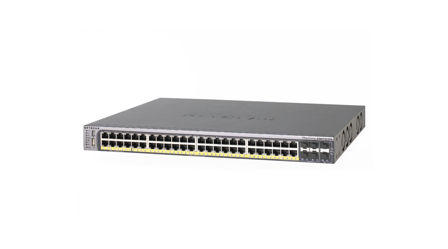 NetGear PROSAFE 48-PORT STACKABLE GIGABIT POE L2+ MANAGED SWITCH - GSM7252PS