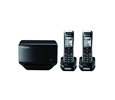 Panasonic TGP500 SIP DECT Phone Cordless Base Bundled with 2 Handsets (KX-TGP500B04-BL1)