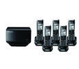 Panasonic TGP500 SIP DECT Phone Cordless Base Bundled with 5 Handsets (KX-TGP500B04-BL4)