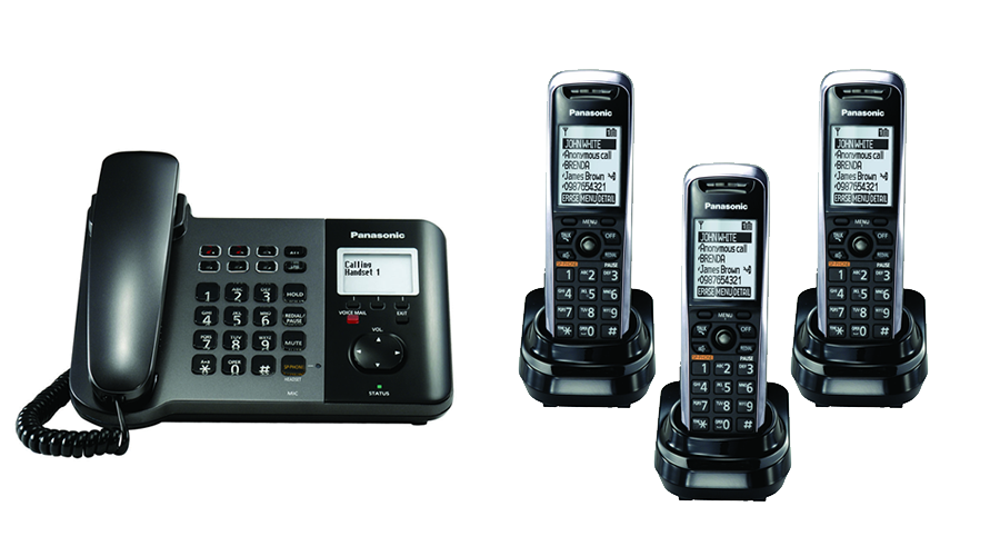 Panasonic TGP550 SIP DECT Phone Corded / Cordless Base Bundle with 3 Handsets