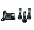 Panasonic TGP550 SIP DECT Phone Corded / Cordless Base Bundle with 3 Handsets (KX-TGP550T04-BL2)