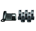 Panasonic TGP550 SIP DECT Phone Corded / Cordless Base Bundle with 5 Handsets (KX-TGP550T04-BL4)