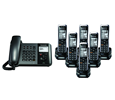 Panasonic TGP550 SIP DECT Phone Corded / Cordless Base Bundle with 6 Handsets (KX-TGP550T04-BL5)