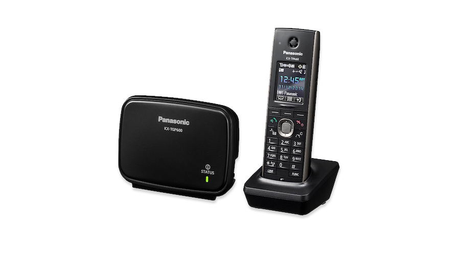 Panasonic TGP600 Smart IP Wireless Phone System - Includes One TPA60 Cordless Handset and DECT Base