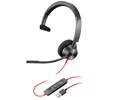 Plantronics Blackwire 3310 Monaural Corded Headset, Microsoft, USB-A (212703-101)