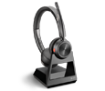 Plantronics SAVI 7220 Binaural Wireless DECT Headset System with 3 Year Warranty (213020-01-PLT3YR)