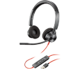 Plantronics Blackwire 3320, Binaural Corded Headset, Microsoft, USB-A (214012-101)