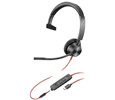 Plantronics Blackwire 3315 Monaural Corded Headset, Microsoft, USB-A (214014-101)
