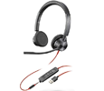 Plantronics Blackwire 3325, Binaural Corded Headset, Microsoft, USB-A (214016-101)