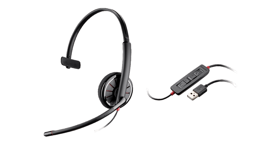 Plantronics Blackwire C310 Over-the-head, Monaural, USB Corded Headset