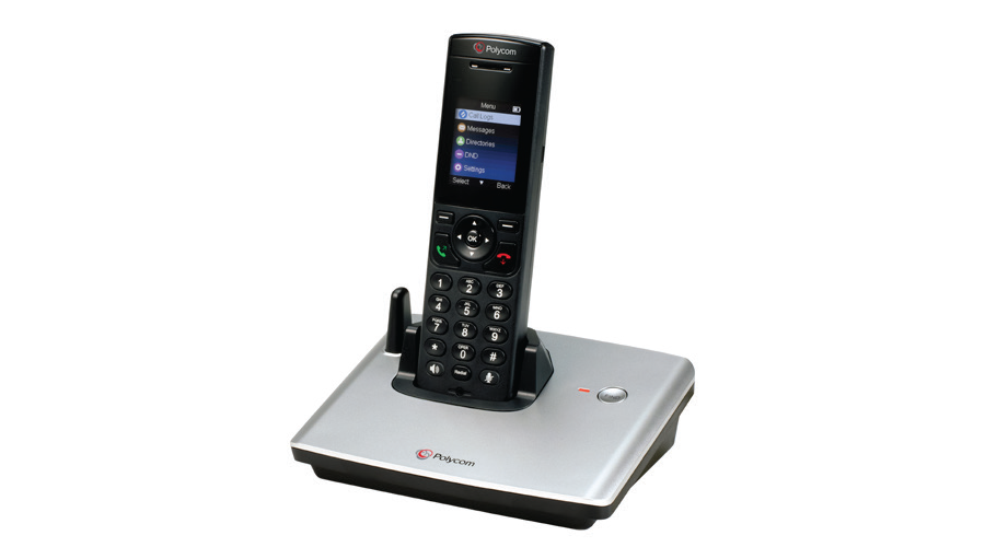 Polycom VVX D60 Wireless Handset with Base (PoE) - Does not Include Power Supply