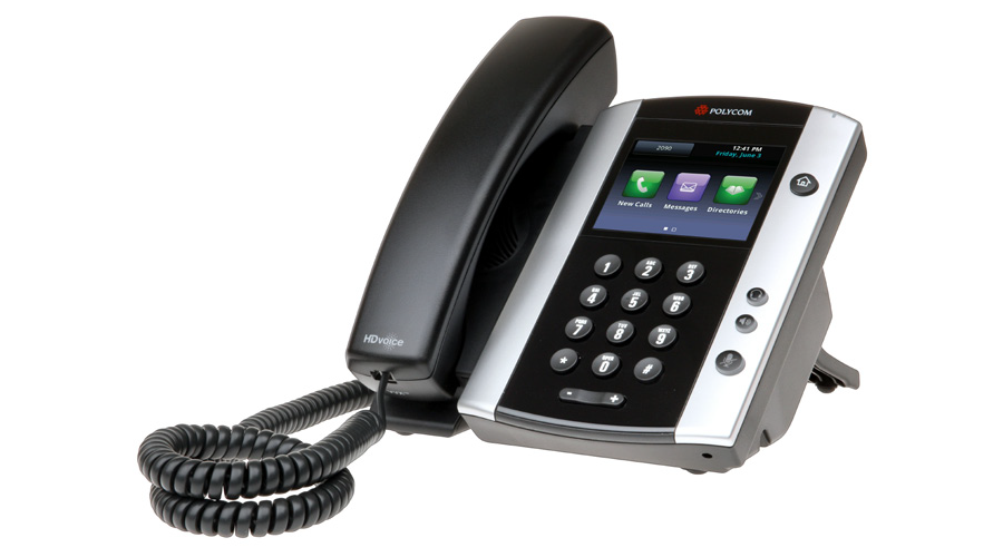 Polycom VVX 501 12-line Business Media Phone with HD Voice, PoE - with Power Supply