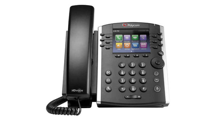Polycom VVX 411 12-line Desktop Phone Gigabit Ethernet with HD Voice, PoE and VQMON