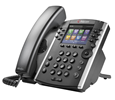 Polycom VVX 411 12-line Desktop Phone Skype for Business Edition - with Power Supply (2200-48450-019_AC)