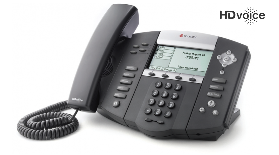 Polycom SoundPoint IP 550 4-Line SIP Desktop phone - Includes Power Supply