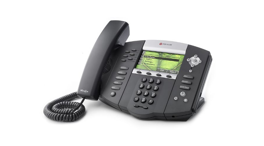 Polycom SoundPoint IP 670 6-Line application-enabled Desktop IP Phone - Includes Power Supply