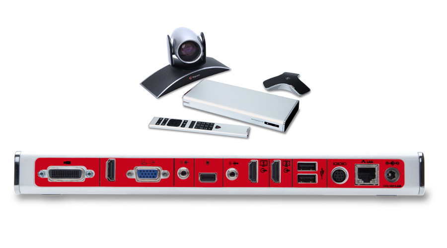 Polycom RealPresence Group 500-720p: Group 500 HD Codec, EagleEyeIV-4x Camera, Mic Array, Remote, NTSC/PAL