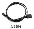 Polycom Ethernet cable for CX3000, 25 ft. (2200-44332-001)