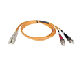 Tripp Lite Duplex Multimode 62.5/125 Fiber Patch Cable (LC/ST), 10-ft. (N318-03M)