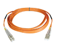 Tripp Lite Duplex Multimode 50/125 Fiber Patch Cable (LC/LC), 1M (3-ft.) (N520-01M)