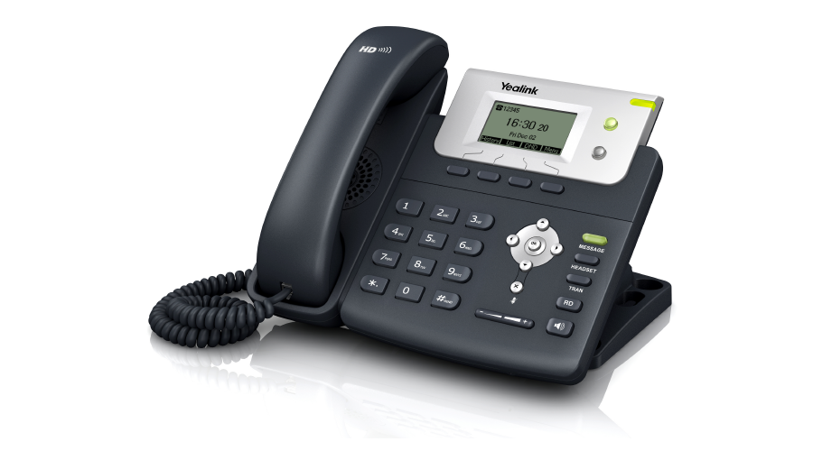 Yealink SIP-T21P - Entry Level IP Phone with 2 Lines and HD Voice (with PoE) - Open Box