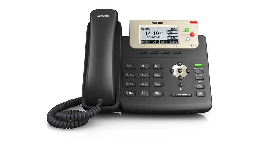 Yealink Enterprise HD IP Phone SIP-T23G (with PoE) - Includes Power Supply