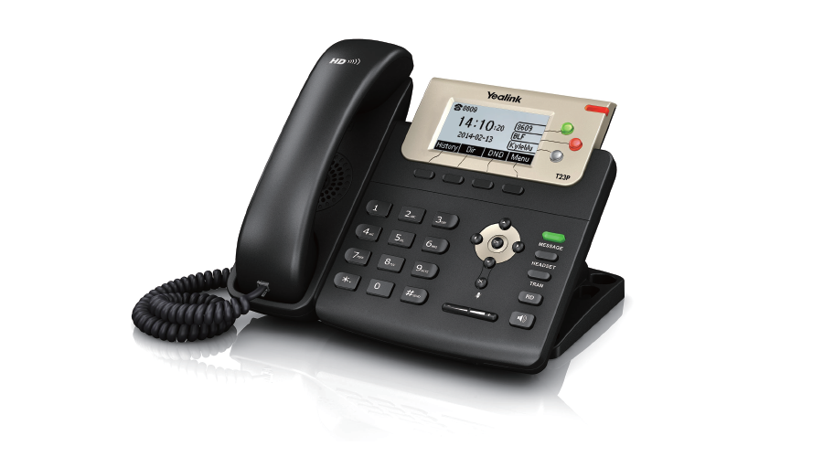 Yealink SIP-T23P Professional IP phone with 3 Lines & HD voice - Includes Power Supply - Open Box