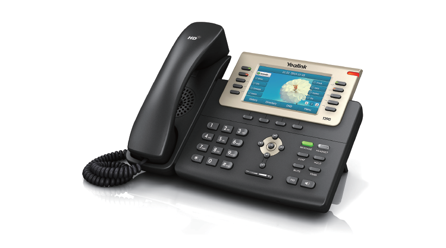 Yealink SIP-T29G Professional Gigabit phone with Color LCD - Includes Power Supply