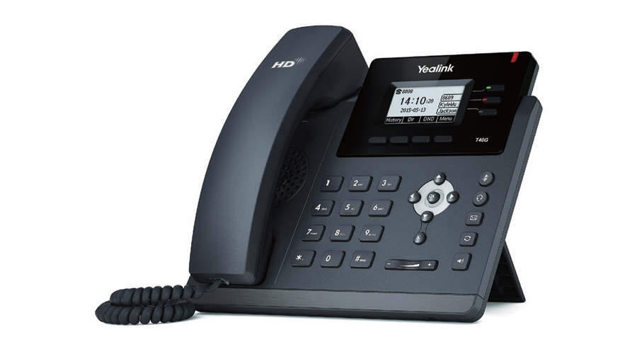 Yealink SIP-T40G IP Phone (with PoE) - Includes Power Supply
