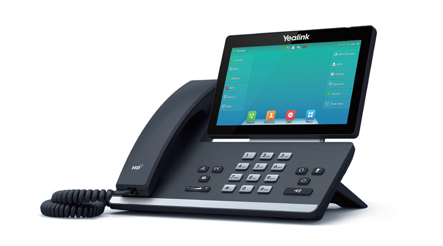 Yealink SIP-T57W Gigabit IP Phone with Adjustable Screen - Without Power Supply
