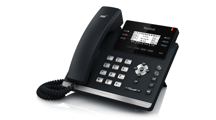 Yealink SIP-T42G - 12-Line IP Phone (PoE) - Does Not Include Power Supply